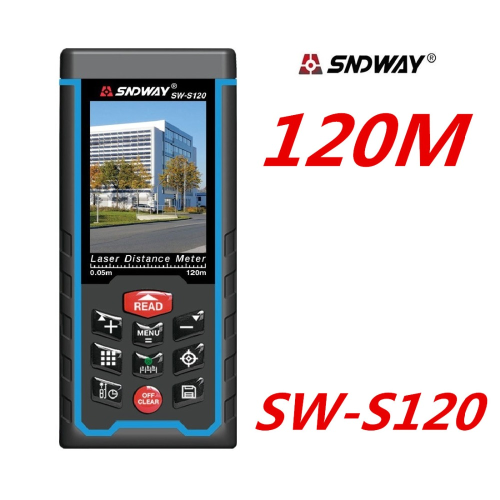 120 M Laser Distance meter Telemetro Laser Range Finder Misura di nastro W-TFT SW-S120 Lcd Della Fotocamera batteria ricaricabile