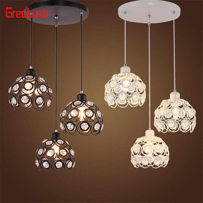 Современные светодиодные хрустальная люстра освещение Подвесная лампа, подвесная светильник хрустальный шар люстры для Кухонные светильники