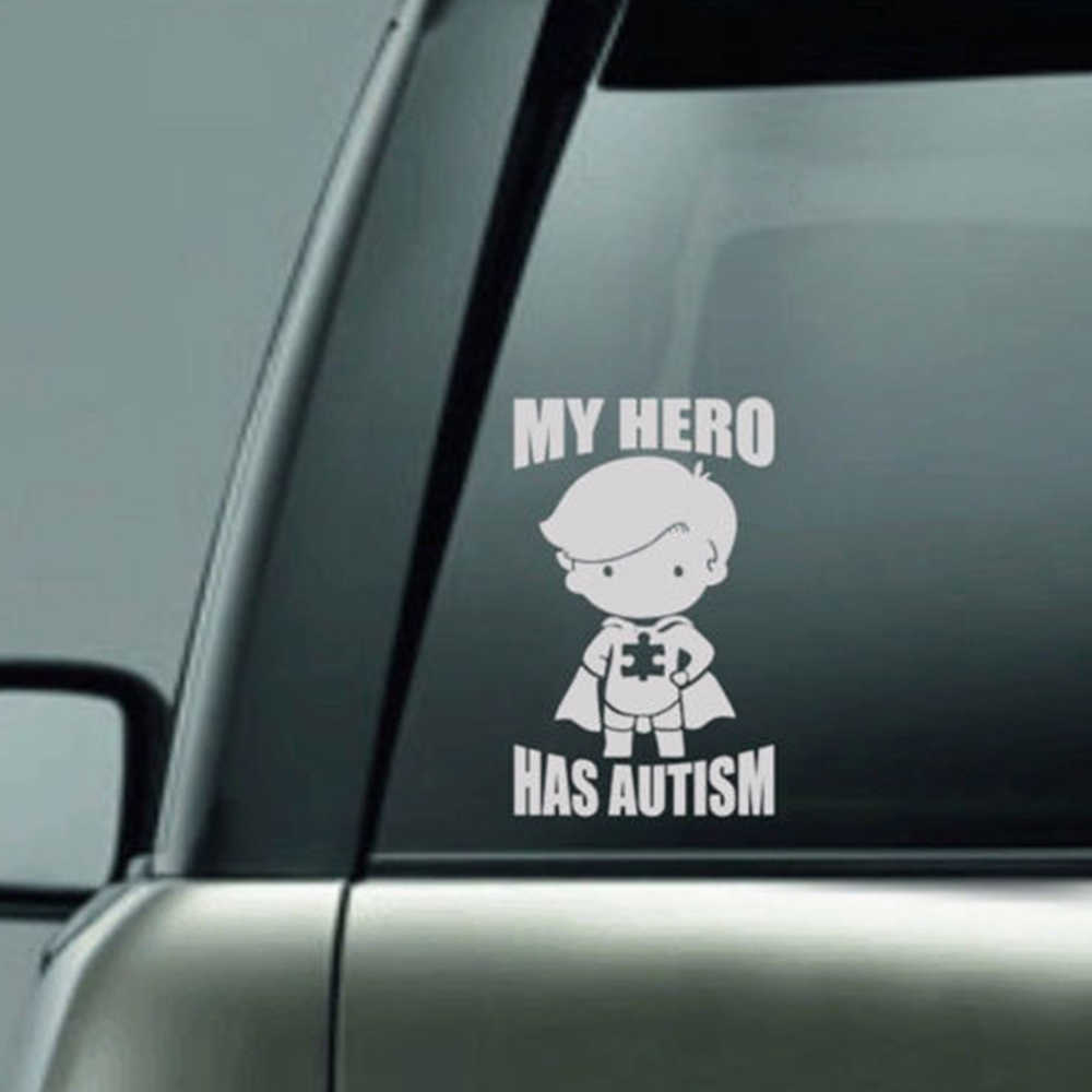 Lovely 2410cm my hero boy decor car glass stickers waterproof car door back background