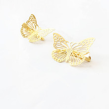 Butterfly Shaped Hair Clips for Girls 2 pcs Set