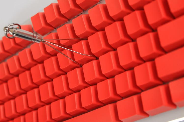 MP 108/87 klahviga PBT punane tühi võtmehoidja kõrge - Arvuti välisseadmed - Foto 2