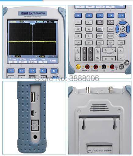 Hantek DSO1102B Digital Handheld Oscilloscope 2 Channels 100MHz 1GS/s Sample Rate 32 Automatic Measurements Handheld Multimeter осциллограф dhl hantek mso5102d 100 1gs s 16 2