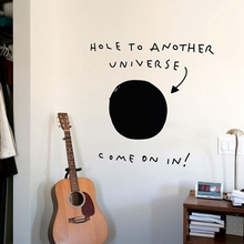 Hole to Another Universe funny wall sticker for decoration