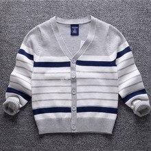 Garçons chandails 2016 automne bébé cardigan Rayé coton tricot enfants chandails vêtements à manches longues Enfants Survêtement pour les garçons