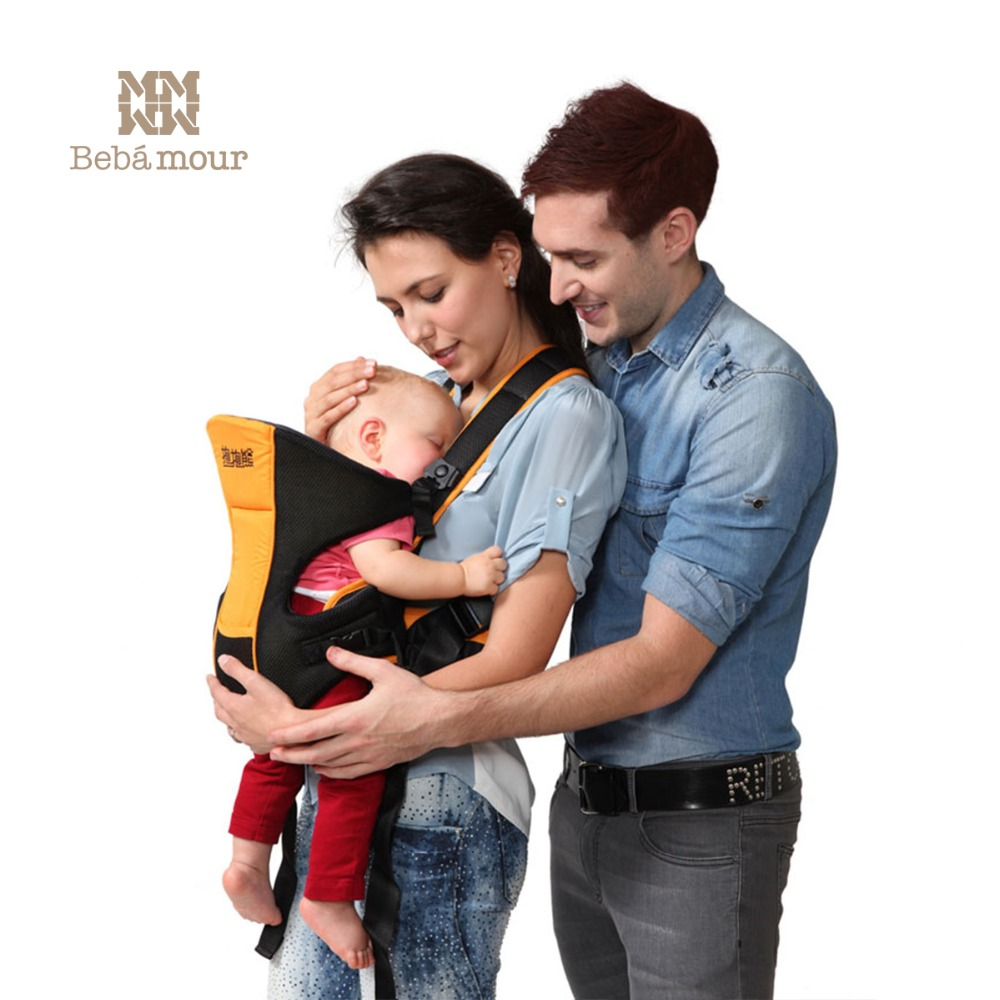 Bebamour Baby Carrier Comfortable Ergonomica Baby Sling Fashion Baby Wrap Carrier Child Carrier Backpack for Babe multi function comfortable baby carrier sling red grey