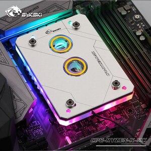 Image 5 - Водяной блок для процессора Bykski для AMD RYZEN3000 AM3 AM3 + AM4 1950X TR4 X399 X570 материнская плата/5 В 3PIN светильник/медный радиатор