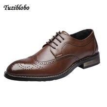 2018 Fashion Comfortable Casual Shoes Brogue Men Shoes Men Flats Slip On Quality Split Leather Shoes Plus Size Moccasins Shoes цена