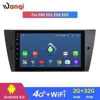 Android 8.0 2+32G 4G 3G WIFI netcom 9 inch For BMW E90 E91 E92 E93 2005 2012 GPS Navigation support steering wheel control