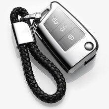 Чехол для ключей SILLY CAT для автомобиля, чехол для VW Golf 7 mk7 сиденье Ibiza Leon FR 2 Altea Aztec TPU Защитный чехол для ключа автомобиля