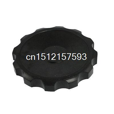 12mm x 100mm Black Plastic Screw On Type Knurled Hand Knob коньки раздвижные k2 charm ice подростковые 2014