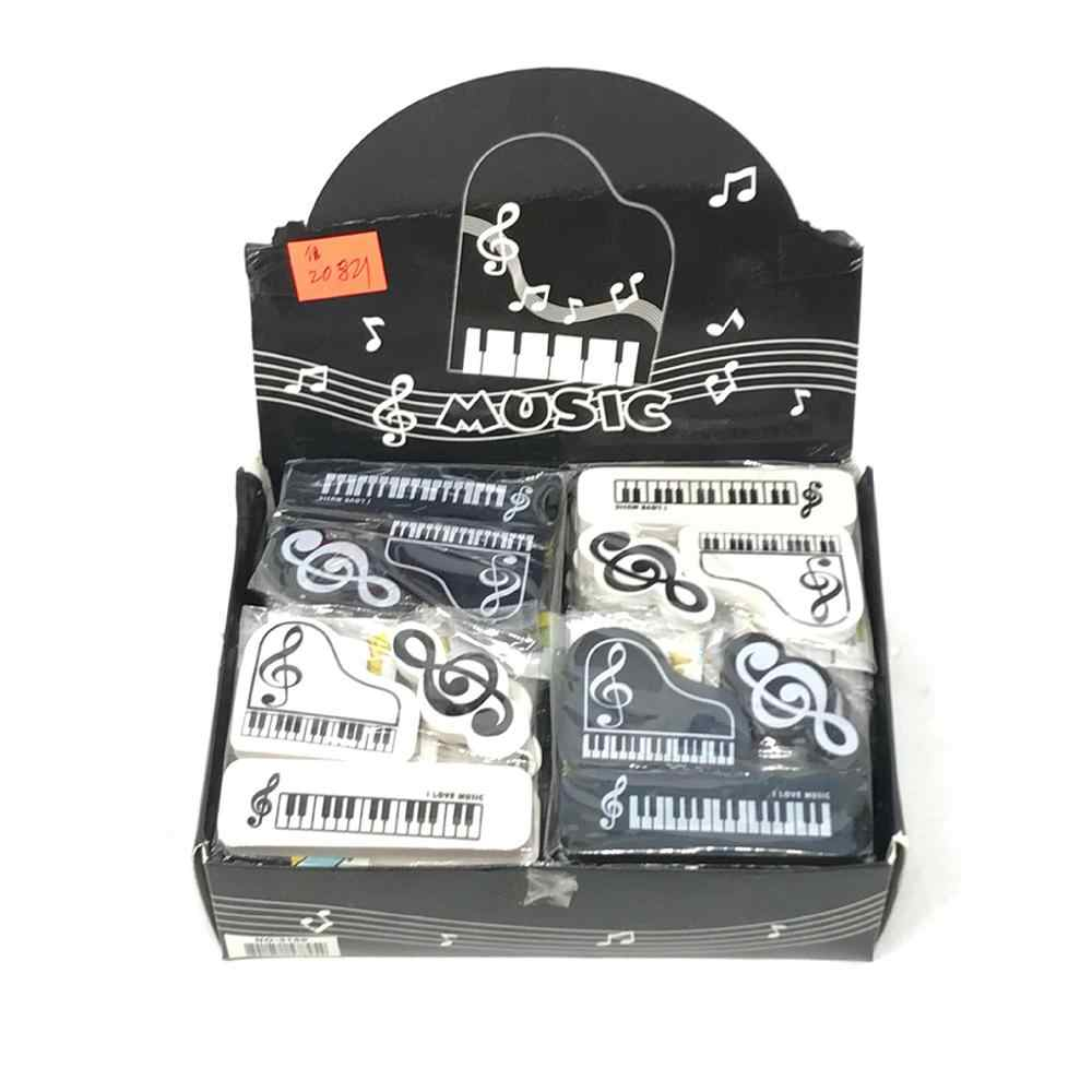 3 stks/set Musical Piano Merkt Rubber Potlood Gum School Student Koreaanse Briefpapier Correctie Supplies Voor Kids Geschenken