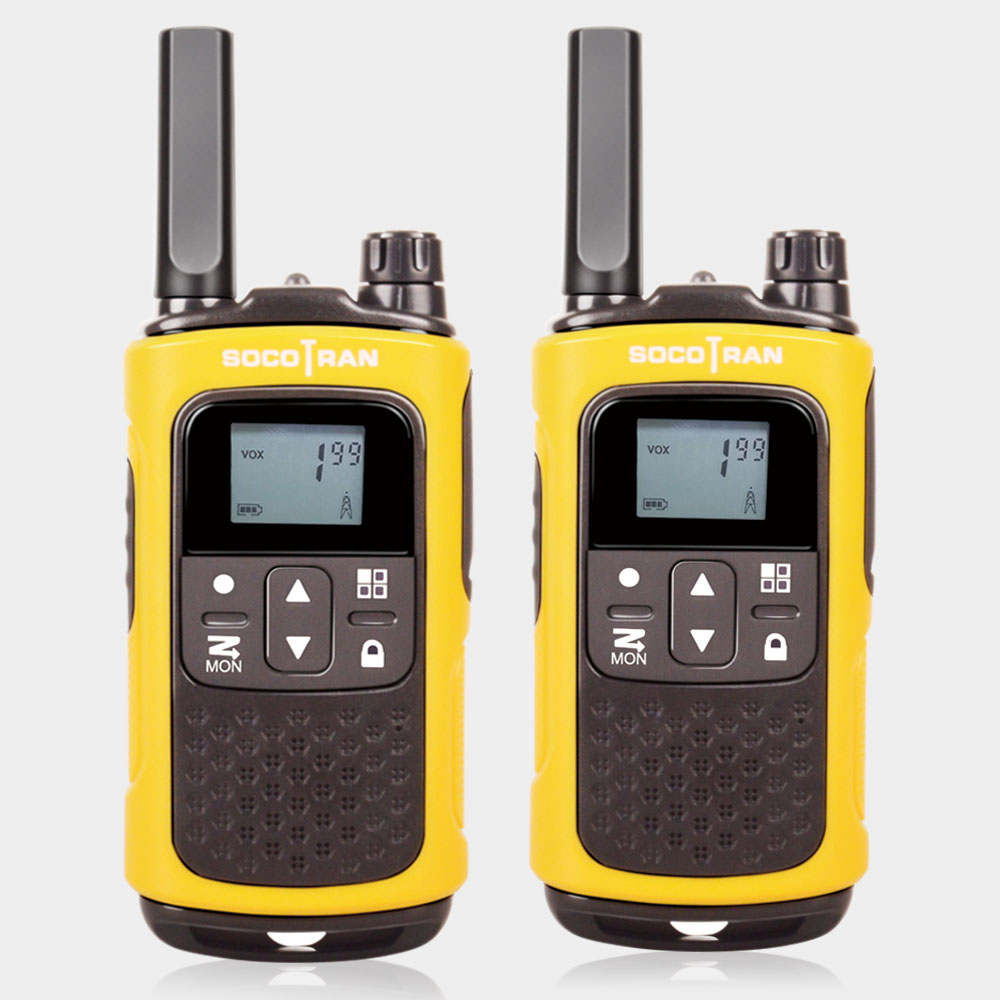 Long Range Rechargeable Two Way Radio PMR446 License Free Walkie Talkies Socotran T80 8CH VOX Flashlight Battery Privacy Codes