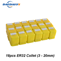 18pcs Collet Chuck Lathe Tool Holder ER32 Collet Chuck ER 32 Drill Chuck For CNC Router Spindle Motor Milling Machine
