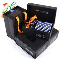 Moda Cravatta Sposo Cravatta Gentleman Set Festa Di Compleanno Regali di Nozze Cravatta Per Gli Uomini Di Seta Splendida Gravata Camicia Freccia Cravatta Set