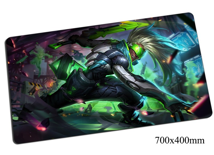 Ekko Mouse Pad 70x40cm Gaming Mousepad Gear Lol Gamer Mouse Mat Pad Game Computer Boy Who Shattered Time Mouse Popular Play Mats