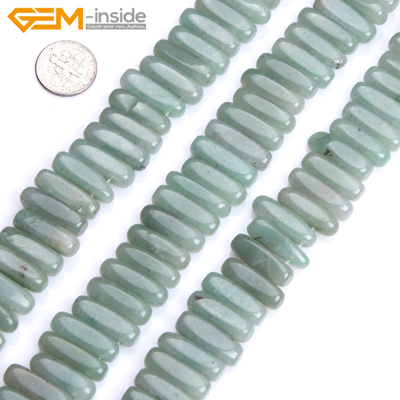Gem-inside 6x20mm Natural Freeform Stick Shape Green Aventurine Beads For Jewelry Making Beads 15inch DIY Beads Jewellery
