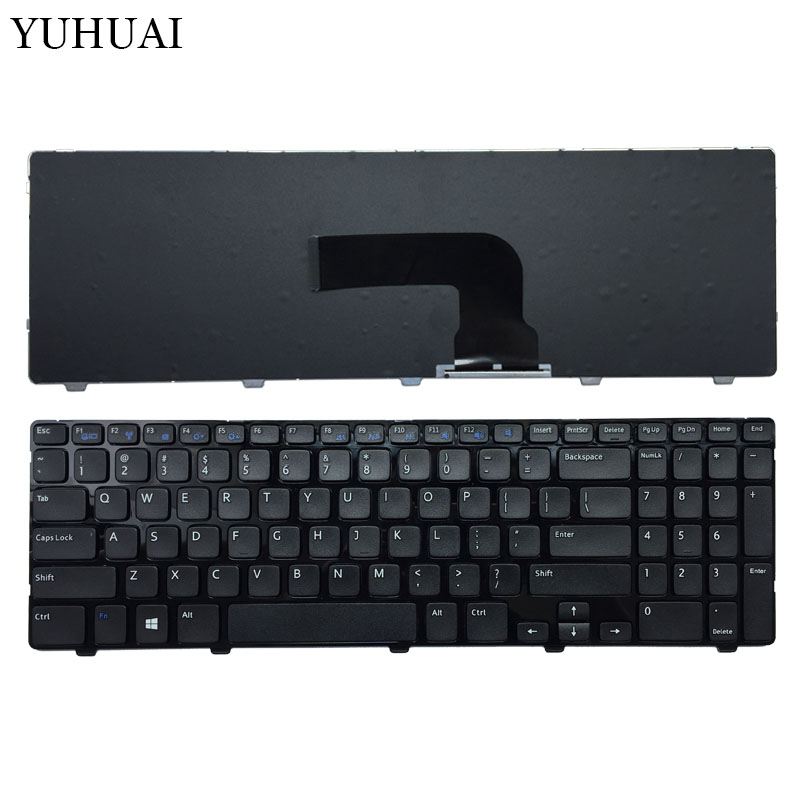 NEW US Laptop Keyboard FOR <font><b>Dell</b></font> Vostro 2521 Latitude <font><b>3540</b></font> Keyboard Black image