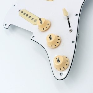 Image 3 - Prewired mint green ST Guitar Pickguard Assembly With Vintage DS53 Alnico guitar pickups in white and black colors