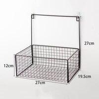 Caixa para exibição de fio de ferro  cesta de armazenamento multifuncional para parede