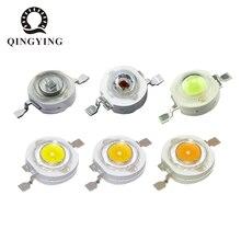 100 шт. 1 Вт 3 Вт светодиодный высокомощный светодиодный s холодный белый натуральный белый теплый белый RGB Красный Зеленый Синий Желтый светильник