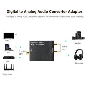 Image 4 - TV Audio Converter Digital To Analog Converter Digital Optical Coaxial RCA Toslink Signal to Analog Audio Converter Home Theater