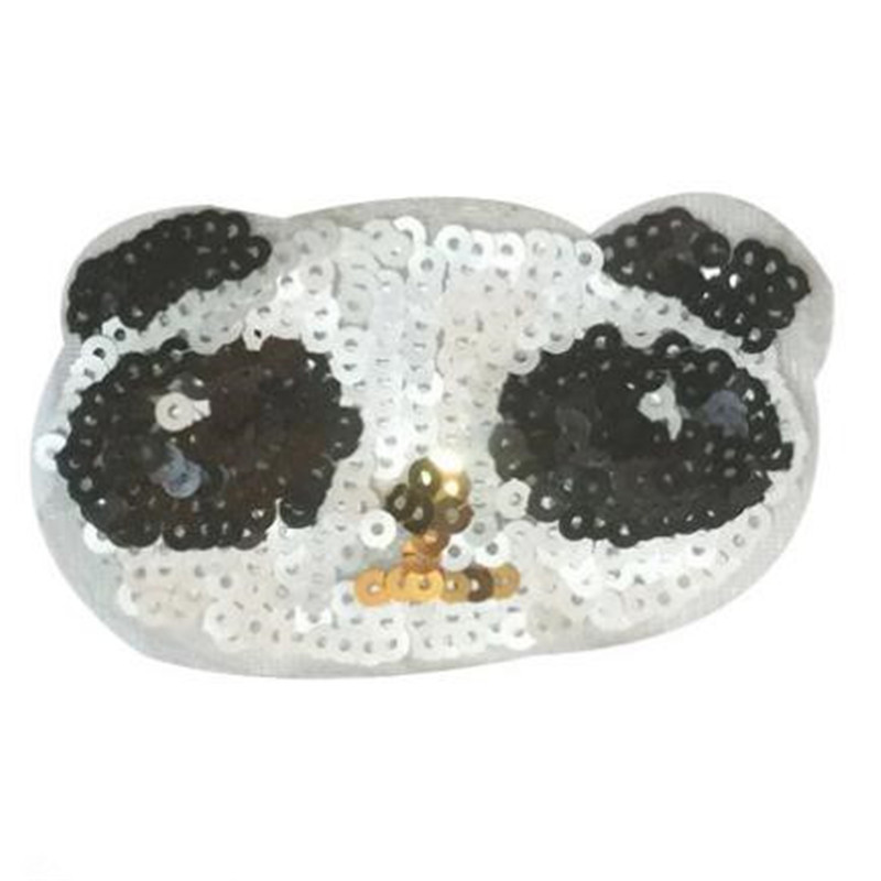 T shirt Women patch sequins 10cm panda first deal with it biker patches for clothing stickers 3d t shirt mens free shipping