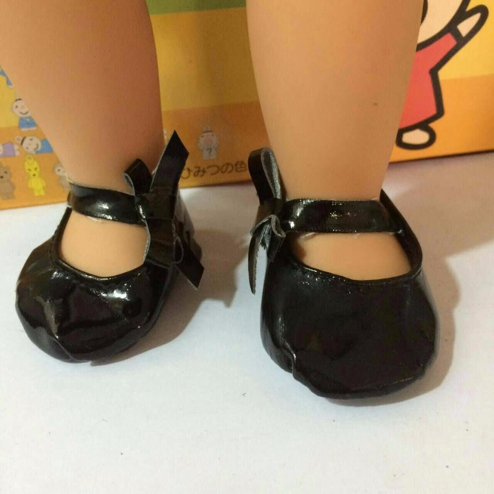 2017 Popular Doll Shoes Black Butterflies Leather Doll Shoes With Silk belt Fit 18″ 18 Inch American Girl Doll Shoes DCH28