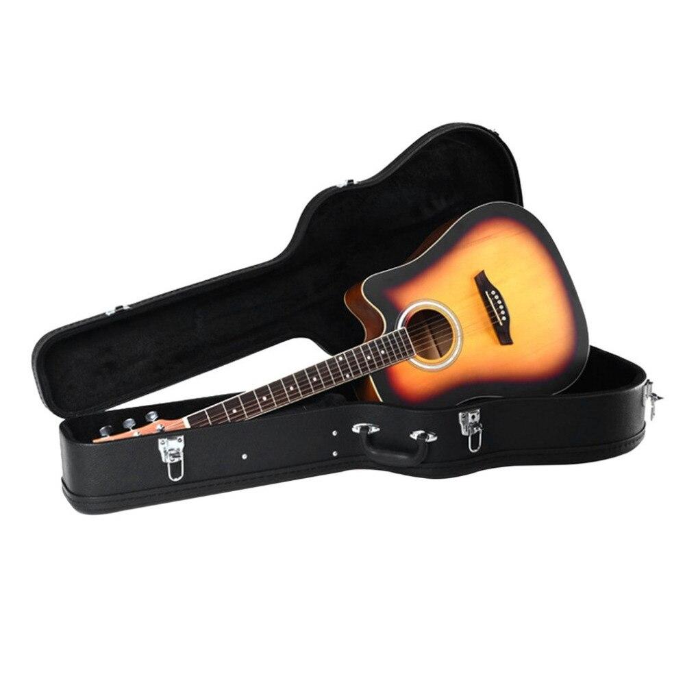 41 caja de guitarra clásica resistente al agua gruesa de mano funda de guitarra dura de madera y cuero accesorios de guitarra acústica envío gratis