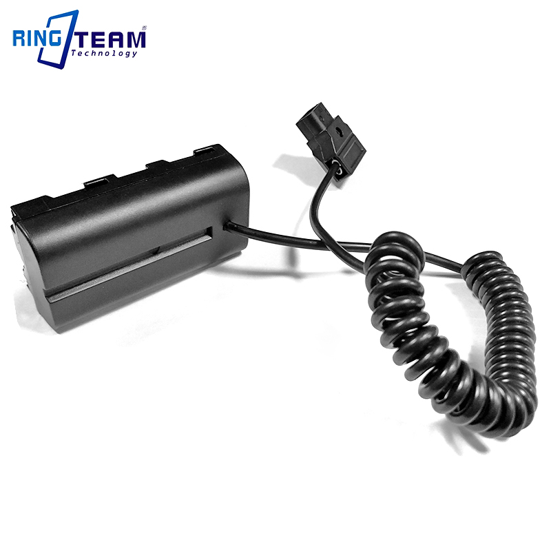 Coiled Cable Power P-Tap D-Tap To NP-F550 F570 Dummy Battery Coupler For Monitors / Lights / Lamps