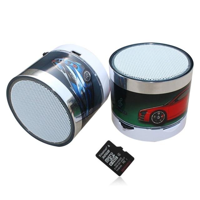 S10 Mini Car Stereo Bluetooth Speaker LED Bright Color Sport Portable Subwoofer Bluetooth Speaker Support U Disk 32GB TF Card