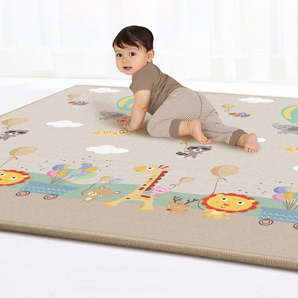 Tapis de jeu bébé épais bébé ramper Pad Double Surface bébé tapis tapis dessin animé Animal développement tapis pour enfants tapis de jeu