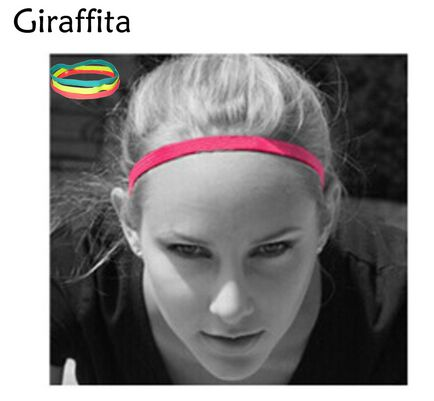 Giraffita Women Hair Bands Headband Elastic Rubber Hairband
