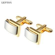Классические квадратные запонки lepton для мужчин высококачественные