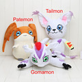 27-35cm Digimon plush Adventure Digimon Tailmon Gomamon Patamon Plush Toys Cute Anime Soft Stuffed Animals Dolls Birthday Gifts