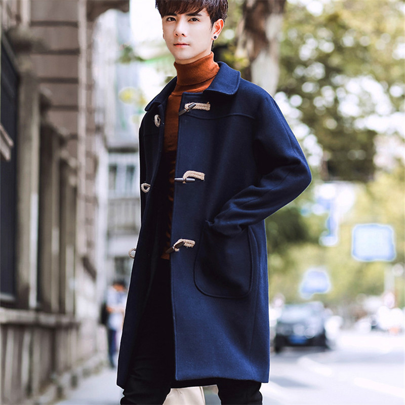 Wool Jacket Overcoat Korean-Version In-The-Long Men's Winter Fashion Fall New And of