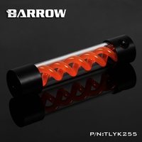Barrow T Virus Helix Suspension Cylinder Water Tank 255mm Orange With Black Cap Water Cooling Reservoir
