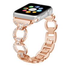 2019 Fashion Hollow Metal Apple Watchband for Women Stainless Steel with Diamond Watch Band iWatch Series 1/2/3/4