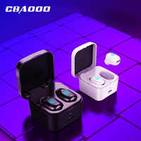 CBAOOO TWS Min Bluetooth Earphone Wireless Earbuds Sports music headsets bluetooth 5.0 earbuds with mic and Charging box