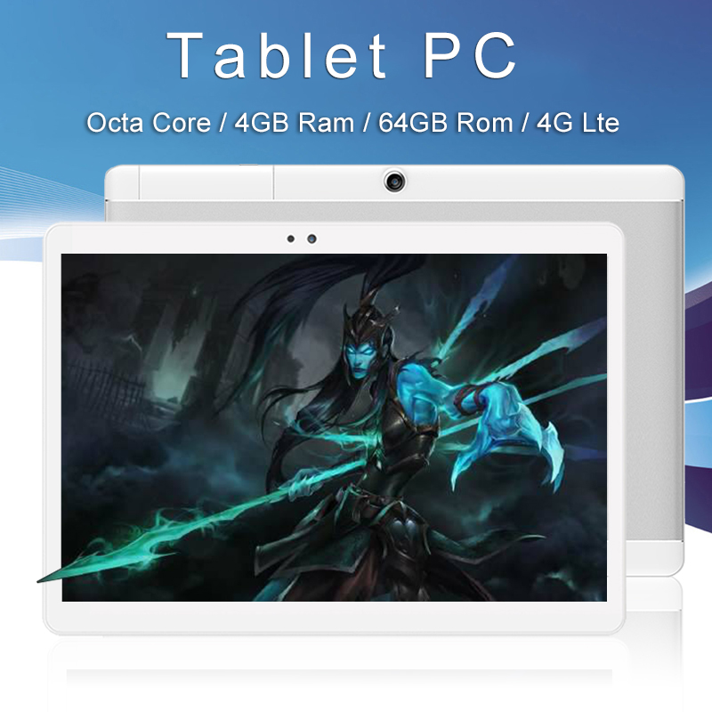 CIGE 10.1 inch Octa Core 2017 Original powerful Android Tablet Pc 4GB RAM 64GB ROM IPS Dual SIM Phone Call Tab Phone pc tablets created x8s 8 ips octa core android 4 4 3g tablet pc w 1gb ram 16gb rom dual sim uk plug