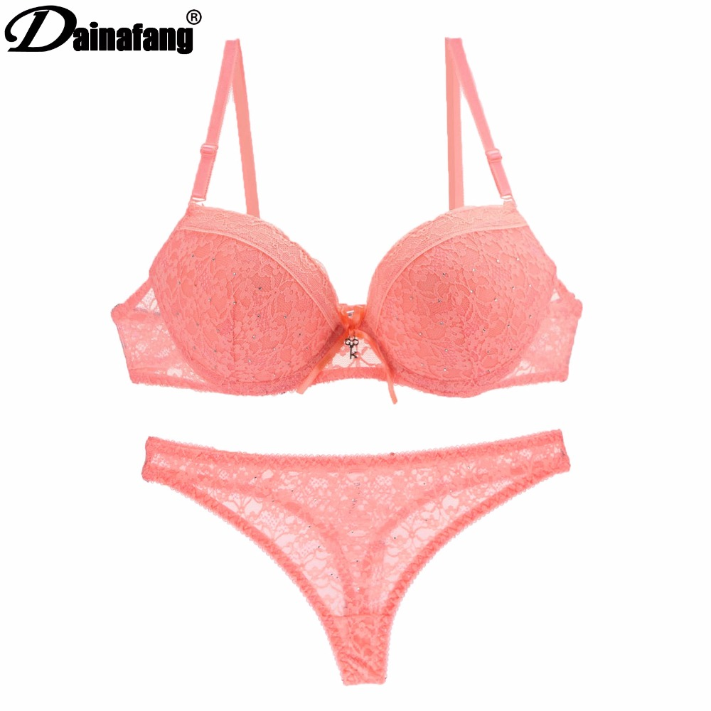 Dainafan Brand Abc Cup Sexy Lace Lingerie Set Womens Push Up Bra And Pants Cotton Refreshing Fashion Bras Sets Bra And Panty Lace Bras And Pantiesbra And Panty Set Aliexpress