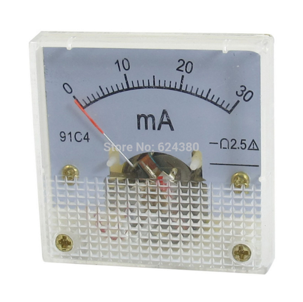 Аналоговый амперметр 91C4 DC 0-30 мА 30 мА, панельный амперметр, измеритель тока, амперметр