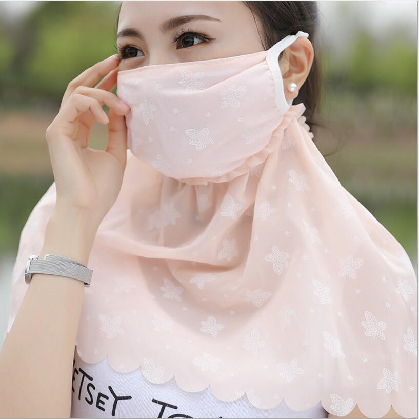 Summer women girl protection face mask sun protective Shade anti-dust mouth mask