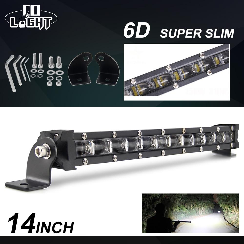 CO LIGHT 6D 60W Led Light bar 12V 24V 14 inch Offroad LED Bar Spot Flood