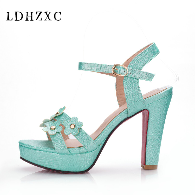 LDHZXC <font><b>Sexy</b></font> High Heels Sandals Summer Style Fashion Front Platform Sandals Party Dress Casual Shoes Woman big size 42 <font><b>10</b></font> 11 image