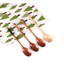 Hot Sale Natural Wood Spoon  Bamboo Kitchen Cooking Utensil Tool Multifunction Supplies Coffee Honey Scoop