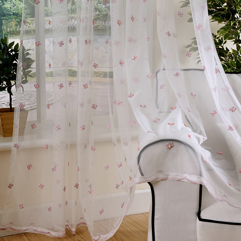 2018 European style luxury embroidered curtain collocation exquisite screens for a living room bedroom hotel kitchen window in Curtains from Home Garden