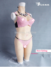 crossdressers bodysuit Top quality crossdressing realistic silicone breast forms fake boobs shemale drag queen lady boy sissy