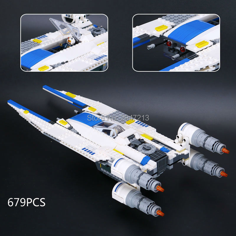 679 PCS hot compatible LegoINGlys Star Wars series Building Blocks rogue a rebel u - wing fighter brick toys for Children gift hot sale building blocks assembled star first wars order poe s x toys wing fighter compatible lepins educational toys diy gift