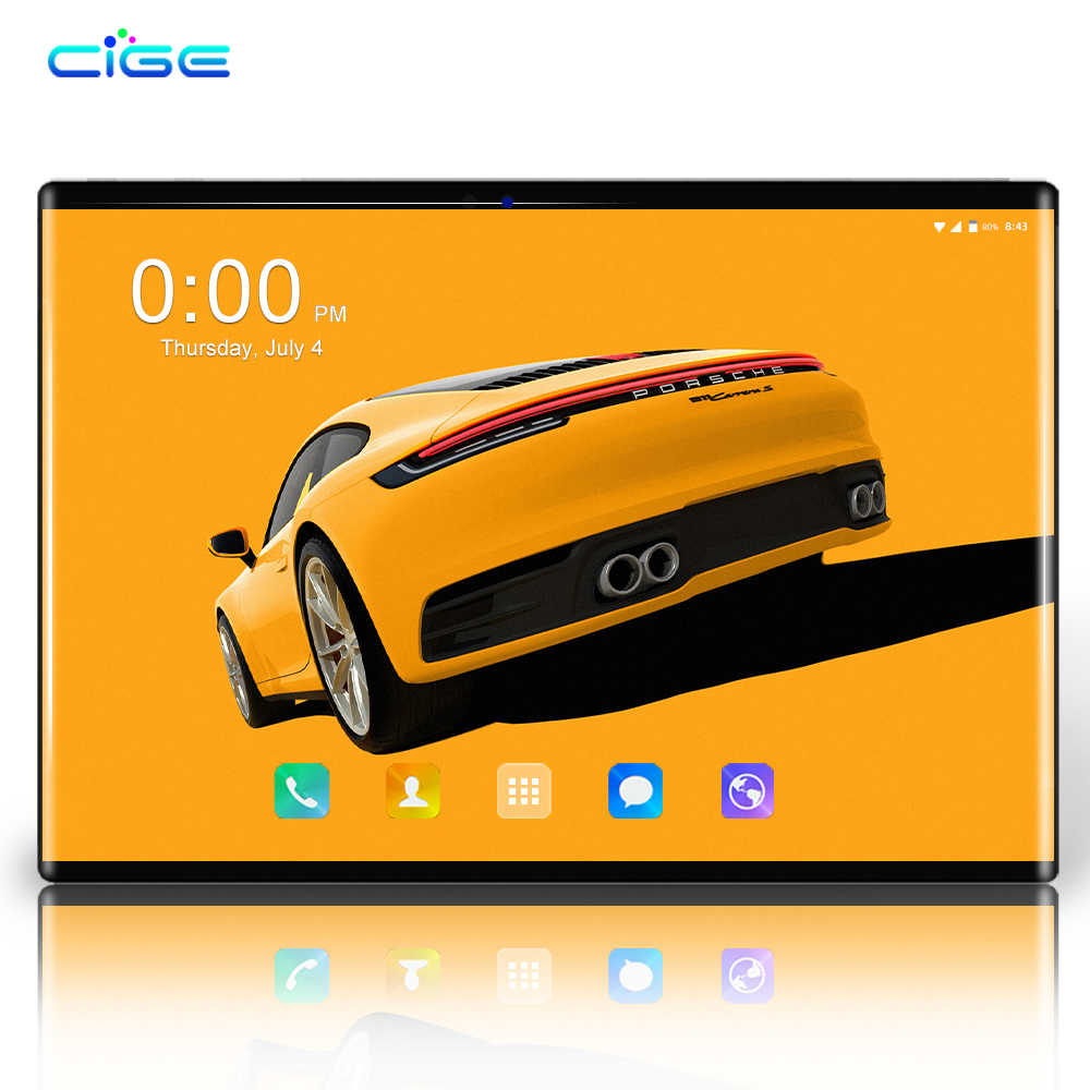 N9 Gratis Pengiriman Android 8.0 Octa Inti 10 Inci Tablet PC 6GB RAM 64GB ROM 8MP WIFI GPS 4G LTE 2.5D Kaca Tempered IPS 1280*800