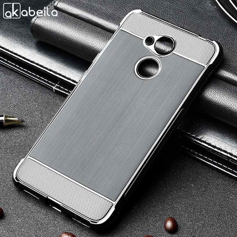 AKABEILA Case For Huawei Honor V9 6C Pro Capa de Silicone Para Huawei Honor Tampa do Jogo Anti-Batida Escova TPU protetor de Casca mole